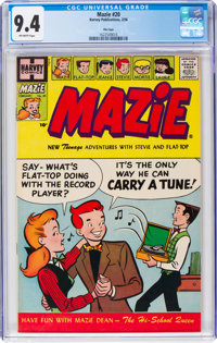 Mazie #20 File Copy (Harvey, 1956) CGC NM 9.4 Off-white pages