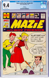 Mazie #24 File Copy (Harvey, 1957) CGC NM 9.4 Off-white pages