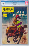 Golden Age (1938-1955):Classics Illustrated, Classics Illustrated #88 Men of Iron - First Edition (Gilberton, 1951) CGC FN/VF 7.0 Off-white to white pages....