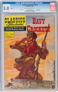 Golden Age (1938-1955):Non-Fiction, Classics Illustrated #129 Davy Crockett - Original Edition (Gilberton, 1955) CGC VG/FN 5.0 Cream to off-white pages....