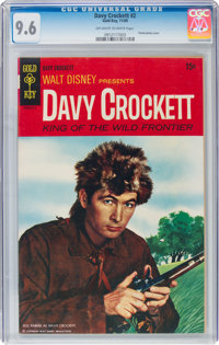 Davy Crockett #2 (Gold Key, 1969) CGC NM+ 9.6 Off-white to white pages