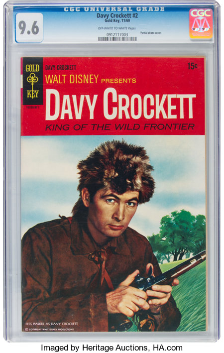 Davy Crockett #2 (Gold Key, 1969) CGC NM+ 9.6 Off-white to white pages....