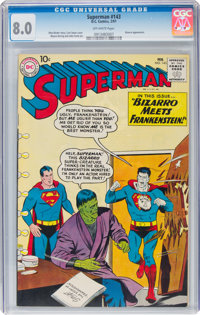 Superman #143 (DC, 1961) CGC VF 8.0 Off-white pages