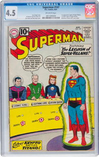 Superman #147 (DC, 1961) CGC VG+ 4.5 Off-white pages