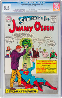 Superman's Pal Jimmy Olsen #87 (DC, 1965) CGC VF+ 8.5 Off-white pages
