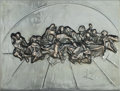 Sculpture:Contemporary (1950 to present), Salvador Dalí (1904-1989). The Last Supper (Platinum Edition), 1978. Plated aluminum relief. 18 x 24 inches (45.7 x 61 c...