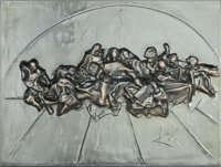 Salvador Dalí (1904-1989) The Last Supper (Platinum Edition), 1978 Plated aluminum relief 18 x 24