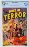 Golden Age (1938-1955):Horror, Tales of Terror #1 (Toby Publishing, 1952) CBCS Restored VG/FN 5.0 Slight Professional Off-white to white pages....
