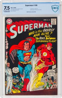 Superman #199 (DC, 1967) CBCS VF- 7.5 Off-white to white pages