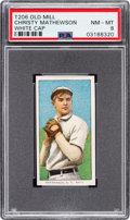 Baseball Cards:Singles (Pre-1930), 1909-11 T206 Old Mill Christy Mathewson (White Cap) PSA NM-MT 8 -Pop One, None Higher for Brand! ...