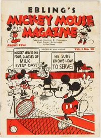 Mickey Mouse Magazine Dairy Giveaway V1#10 (Walt Disney Productions, 1934) Condition: VG
