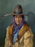 Paintings, LeRoy Greene (American, 1893-1974). Chester Medicine Crow, 1959. Oil on canvas. 40 x 30 inches (101.6 x 76.2 cm). Signed...