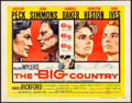 """Movie Posters:Western, The Big Country (United Artists, 1958). Folded, Very Fine-. Half Sheet (22"""" X 28"""") Style B. Western.. ..."""