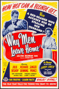 "Movie Posters:Drama, Secrets of Beauty (Hallmark Productions, 1951). Folded, Fine+. Poster (40"" X 60"") Alternate Title: Why Men Leave Home. D..."
