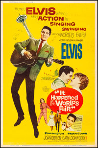 "It Happened at the World's Fair (MGM, 1963). Rolled, Fine+. Poster (40"" X 60"") Style Y. Elvis Presley"