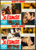 """Movie Posters:Foreign, Two Weeks in September (Excelsior, 1967). Folded, Fine/Very Fine. Italian Photobustas (2) (26.5"""" X 18.25""""). Foreign.. ... (Total: 2 Items)"""