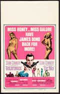 "Movie Posters:James Bond, Goldfinger/Dr. No Combo (United Artists, R-1966). Rolled, Very Fine. Window Card (14"" X 22""). James Bond.. ..."