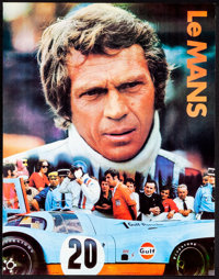 """Le Mans (Cinema Center, 1971). Rolled, Very Fine+. Gulf Promotional Poster (17"""" X 22""""). Sports"""