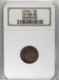 Proof Indian Cents: , 1879 1C PR66 Brown NGC. Chocolate-brown with a distinct electric blue overtone. Meticulously struck with exceptional eye ap...