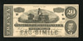 Confederate Notes:1864 Issues, Dr. Morse's Indian Root Pills Facsimile T67 $20 1864. On the back of this facsimile note are testimonials for Dr. Morse's In...