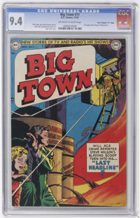 """Big Town #11 Davis Crippen (""""D"""" Copy) pedigree (DC, 1951) CGC NM 9.4 Off-white to white pages"""