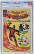 Silver Age (1956-1969):Superhero, The Amazing Spider-Man #8 (Marvel, 1964) CGC VF 8.0 Off-white pages....