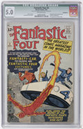 Silver Age (1956-1969):Superhero, Fantastic Four #3 (Marvel, 1962) CGC Qualified VG/FN 5.0 Off-white pages....