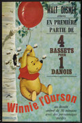 "Movie Posters:Animated, Winnie the Pooh and the Honey Tree (Buena Vista, 1966). FrenchGrande (47"" X 63""). Animation. Starring (voices) Ralph Wright..."