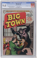 """Golden Age (1938-1955):Crime, Big Town #14 Davis Crippen (""""D"""" Copy) pedigree (DC, 1952) CGC VF/NM 9.0 Off-white to white pages...."""