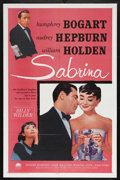 "Movie Posters:Romance, Sabrina (Paramount, R-1962). One Sheet (27"" X 41""). RomanticComedy. Starring Humphrey Bogart, Audrey Hepburn, William Holde..."