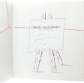 Books:Signed Editions, David Hockney Inscribed Book With Original Sketch: DavidHockney: A Retrospective. (Los Angeles: Los Angeles CountyMuse...