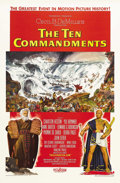 "Movie Posters:Drama, The Ten Commandments (Paramount, 1956). One Sheet (27"" X 41"") StyleB. Cecil B. DeMille's Biblical epic about the life of Mo..."