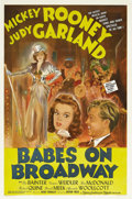 "Movie Posters:Musical, Babes on Broadway (MGM, 1941). One Sheet (27"" X 41"") Style D. Theimmortal Busby Berkeley directed this sequel to MGM's popu..."