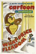 """Movie Posters:Animated, What Price Fleadom (MGM, 1948). One Sheet (27"""" X 41""""). Director Tex Avery brought his wacky and manic sense of comedy to all..."""