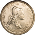 Patterns: , 1869 25C Standard Silver Quarter Dollar, Judd-721, Pollock-802,R.5, PR65 NGC. The obverse features a bust right of Liberty...