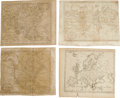 Antiques:Posters & Prints, Four Maps Engraved by Amos Doolittle, Circa 1790s, and allpublished by Thomas & Andrews of Boston, Massachusetts asfollows... (Total: 4 )