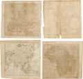 """Antiques:Posters & Prints, Four Maps Engraved by Amos Doolittle, Circa 1790s, as follows:. """"A New Map of North America Shewing all the New Discoverie... (Total: 4 )"""