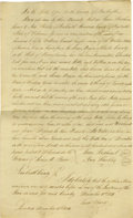 Antiques:Black Americana, General Anthony Wayne's Son Isaac Indenture and Associated Slave Manumission. This lot consists of a handwritten slave manum... (Total: 2 )