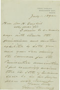 Autographs:U.S. Presidents, Grover Cleveland Excellent Political Autograph Letter Signed: Writing a week after he is nominated for President at his thir...
