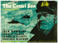 "Movie Posters:War, The Cruel Sea (Universal, 1953). British Quad (30"" X 40""). JackHawkins is assigned to command a convoy escort ship at the b..."