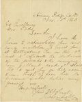 Autographs:U.S. Presidents, James A. Garfield Excellent Autograph Letter Signed: Invited by theGovernor of Ohio to meet him at Gettysburg where he woul...