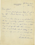 Autographs:U.S. Presidents, Franklin D. Roosevelt Superb Autograph Letter Signed: From hishouseboat off the Florida coast, FDR writes an old friend tha...