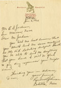 Autographs:U.S. Presidents, Lyndon B. Johnson Superb Early Autograph Letter Signed: The 20-year-old schoolteacher asks his college librarian for materia...