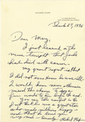 Autographs:U.S. Presidents, Richard Nixon Superb Autograph Letter Signed: Less than five monthsafter his resignation, the former President writes a let...