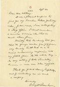 """Autographs:U.S. Presidents, Dwight D. Eisenhower Superb Autograph Letter Signed: """"The younger members of our golf foursome very kindly held back so as..."""