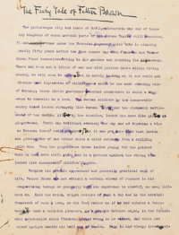 """G. K. Chesterton. """"The Fairy Tale of Father Brown"""" Typed and Holograph Manuscript. [London?: circa 1913]. Orig..."""