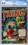 Golden Age (1938-1955):Horror, The Thing! #4 (Charlton, 1952) CGC FN+ 6.5 Off-white to white pages....