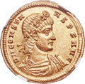 Ancients:Roman Imperial, Ancients: Constans, as Augustus (AD 337-350). AV solidus (22mm, 4.50 gm, 11h). NGC Choice AU★ 5/5 - 4/5....