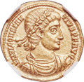 Ancients:Roman Imperial, Ancients: Constantius II, as Augustus (AD 337-361) AV solidus (20mm, 4.42 gm, 7h). NGC MS 5/5 - 4/5....