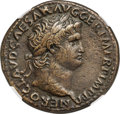 Ancients:Roman Imperial, Ancients: Nero (AD 54-68). AE sestertius (35mm, 28.11 gm, 6h). NGC XF 5/5 - 4/5, Fine Style....
